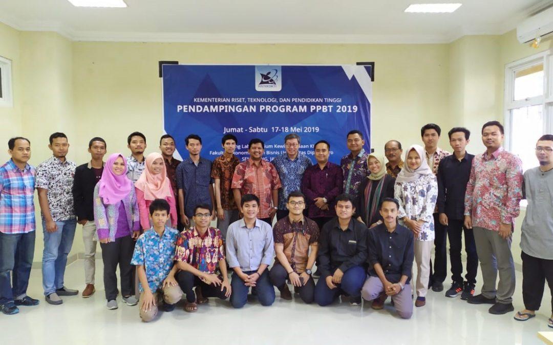 Pendampingan Tahap I Program Perusahaan Pemula Berbasis Teknologi (PPBT) Wilayah Jawa Tengah